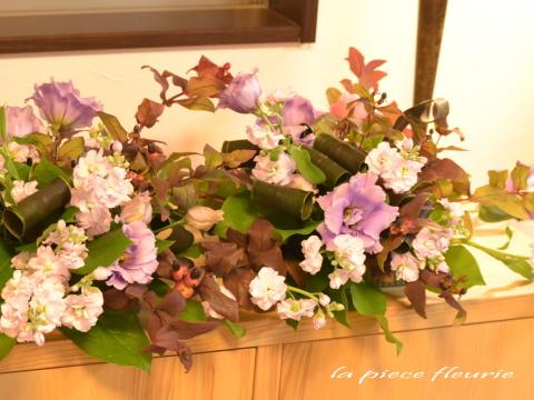 レッスン生作品「テーブル装花」